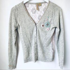 Charlotte Tarantola Cashmere & Lace Sweater